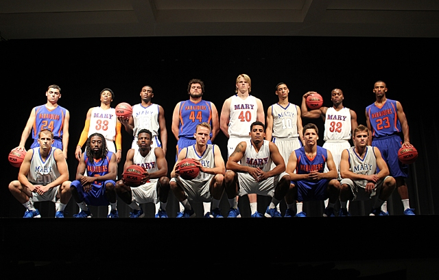 The 2014-2015 Mary men's basketball team.